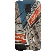 Cup & Saucer - New York City Store Sign Kodachrome Postcards  Samsung Galaxy Case/Skin