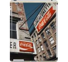 Cup & Saucer - New York City Store Sign Kodachrome Postcards  iPad Case/Skin