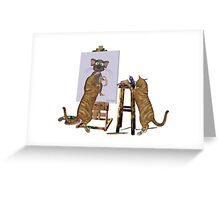 Artists at Work .. cheeky cats Greeting Card
