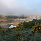 dawn mist rising  by dinghysailor1