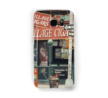 Village Cigars - New York City Store Sign Kodachrome Postcards  Samsung Galaxy Case/Skin