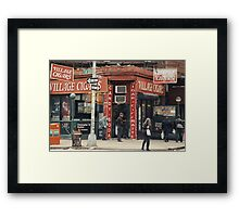 Village Cigars - New York City Store Sign Kodachrome Postcards  Framed Print