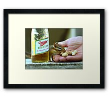 PEANUTS & BEER Framed Print