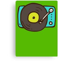 Hand Drawn Vinyl Record Turntable Canvas Print