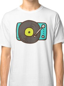 Hand Drawn Vinyl Record Turntable Classic T-Shirt