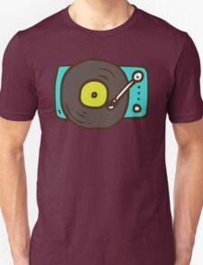 Hand Drawn Vinyl Record Turntable Unisex T-Shirt