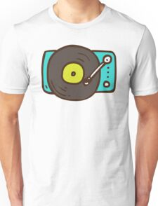 Hand Drawn Vinyl Record Turntable Unisex T-Shirt