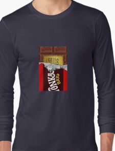willy wonka chocolate bar cover for imagination Long Sleeve T-Shirt