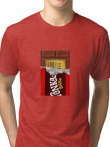 willy wonka chocolate bar cover for imagination Tri-blend T-Shirt