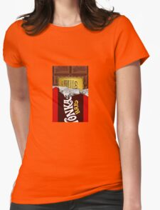 willy wonka chocolate bar cover for imagination Womens Fitted T-Shirt