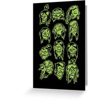 Shrunken heads! Greeting Card
