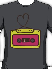Hand Drawn Audio Tape Cassette T-Shirt