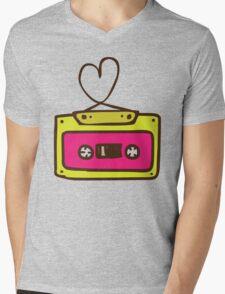 Hand Drawn Audio Tape Cassette Mens V-Neck T-Shirt