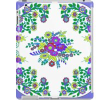 Smart in Sweet floral Cornflower and White iPad Case/Skin