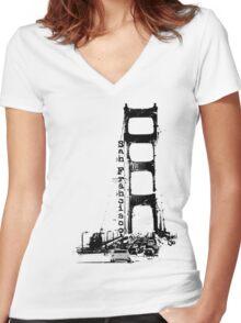L e f t M y H e a r t . . . Women's Fitted V-Neck T-Shirt