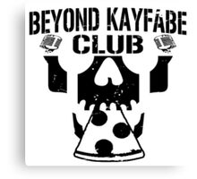 Beyond Kayfabe Podcast - BK CLUB Black Canvas Print
