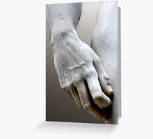 DAVID'S HAND MICHELANGELO DI LODOVICO BUONARROTI SIMONI (CARD ONLY) Greeting Card
