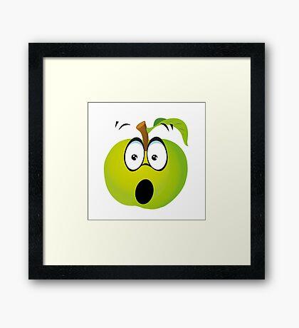 Funny Apple Framed Print