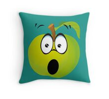 Funny Apple Throw Pillow