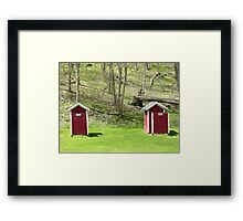 Old School Outhouses Framed Print
