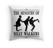 The Ministry of Silly Walkers Throw Pillow