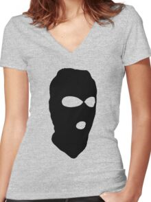 Criminal Concept | Two Women's Fitted V-Neck T-Shirt