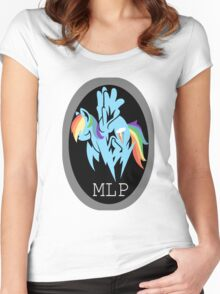 Rainbow Dash/ Shadow Fox: MGS-MLP Crossover Women's Fitted Scoop T-Shirt