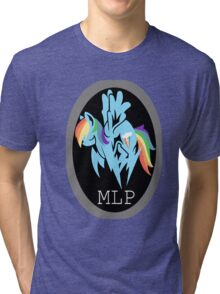 Rainbow Dash/ Shadow Fox: MGS-MLP Crossover Tri-blend T-Shirt