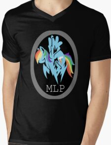 Rainbow Dash/ Shadow Fox: MGS-MLP Crossover Mens V-Neck T-Shirt