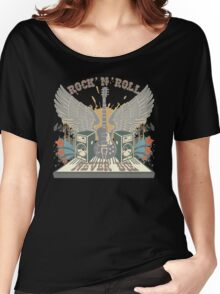 Rock n Roll Will Never Die Women's Relaxed Fit T-Shirt