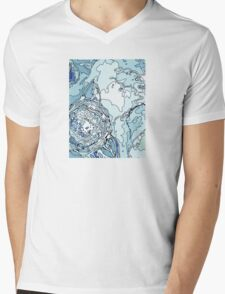 Clouds and Stripes Mens V-Neck T-Shirt