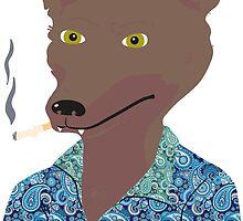 Smoking Wolf by TheScore