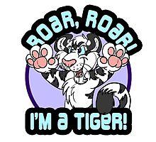Roar, Roar - White Tiger by DakotaWuffsky