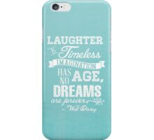 Laughter is Timeless in Ariel Aqua - Chalk Word Art iPhone Case/Skin