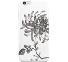 Golden dragon Chrysanthemum sumi-e painting iPhone Case/Skin