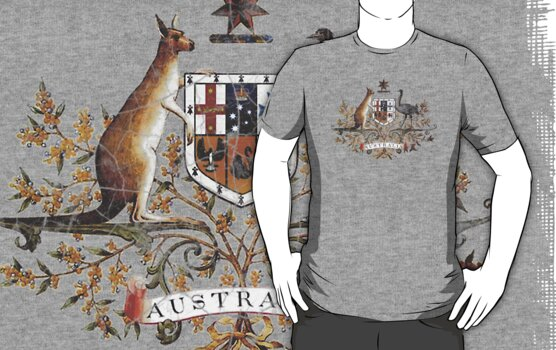 Aussie Coat of Arms by Cathie Tranent