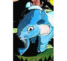 Blue Elephant Photographic Print