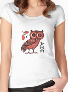 Athena's Owl Women's Fitted Scoop T-Shirt