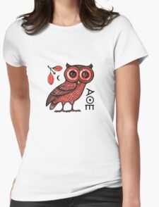 Athena's Owl Womens Fitted T-Shirt