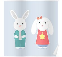 The shy bunnys Poster