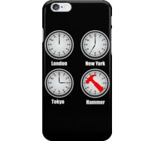 Hammer World Time iPhone Case/Skin
