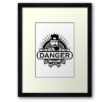 Walter White - I Am The Danger Framed Print