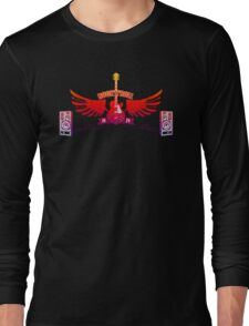 Rock and Roll Guitar Wings Long Sleeve T-Shirt