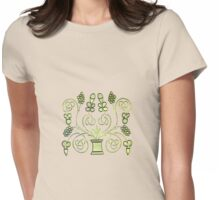 Celtic Plants Womens Fitted T-Shirt