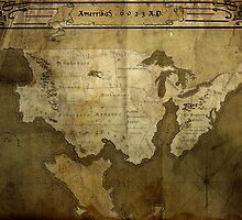 Map of Future America: 6023 A.D. by MidgardMaps