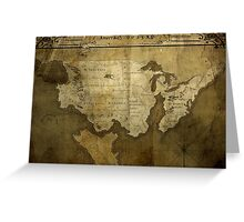 Map of Future America: 6023 A.D. Greeting Card