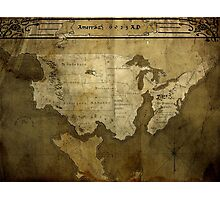 Map of Future America: 6023 A.D. Photographic Print