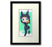Jocy in a Toothless hoodie Framed Print