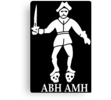 Bartholomew Roberts Pirate Flag Canvas Print