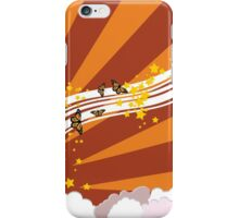 Abstract summer sky illustration iPhone Case/Skin